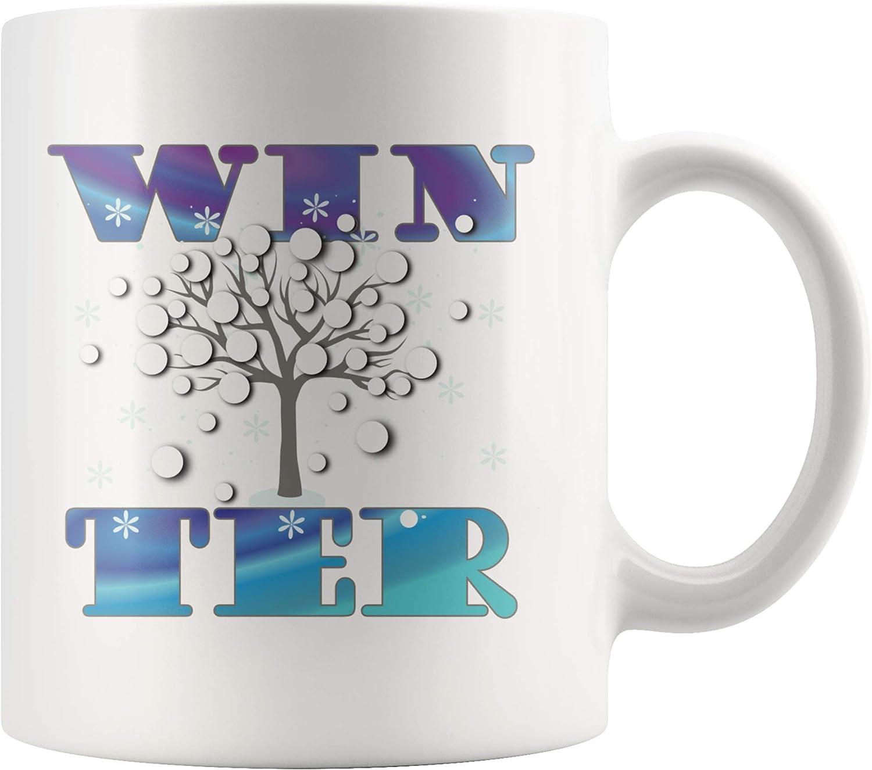 Amazon Com Winter Coffee Mug Table Decor Gifts Word Art Cup Coffee Cups Mugs