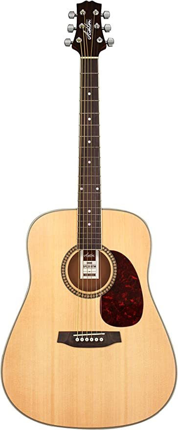 Paquete de guitarra acústica Ashton D25 con sintonizador integrado ...