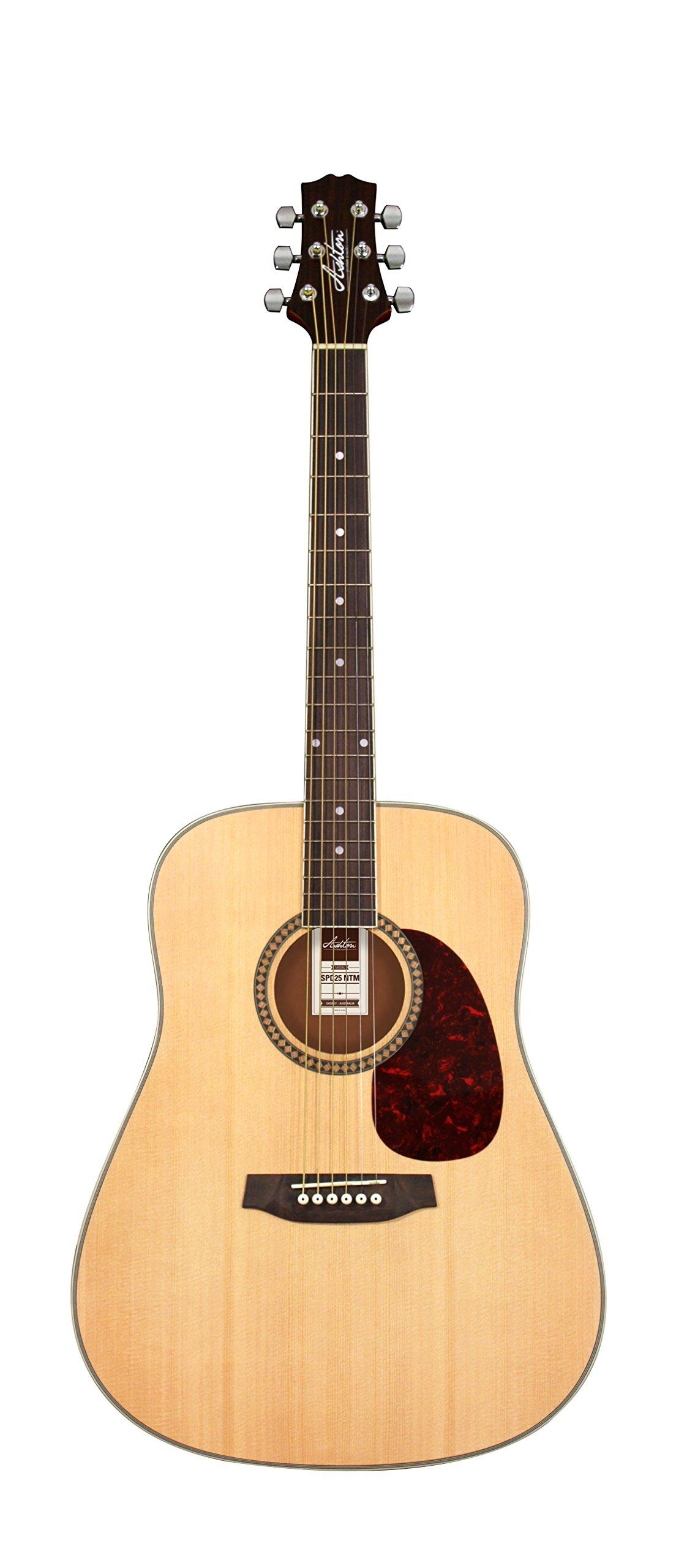 Ashton D Series SPD25NTM Dreadnought Acoustic Guitar Pack - Natural Matte Finish