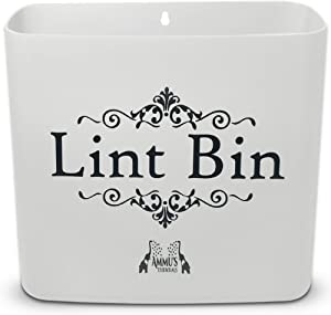 Ammu's Essentials Lint Holder Bin for Laundry Room Space Saving Waste Bin Includes Magnet/Wall Mount for Disposing Lint from Dryer, Washer(Light Grey)