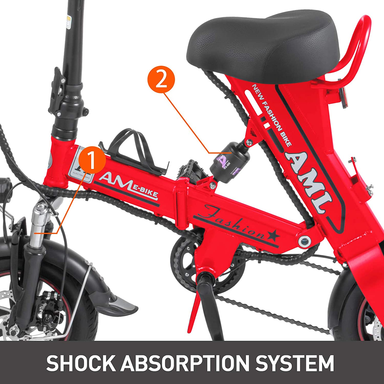 Amazon.com: Mophorn - Bicicleta eléctrica plegable (36 V, 8 ...