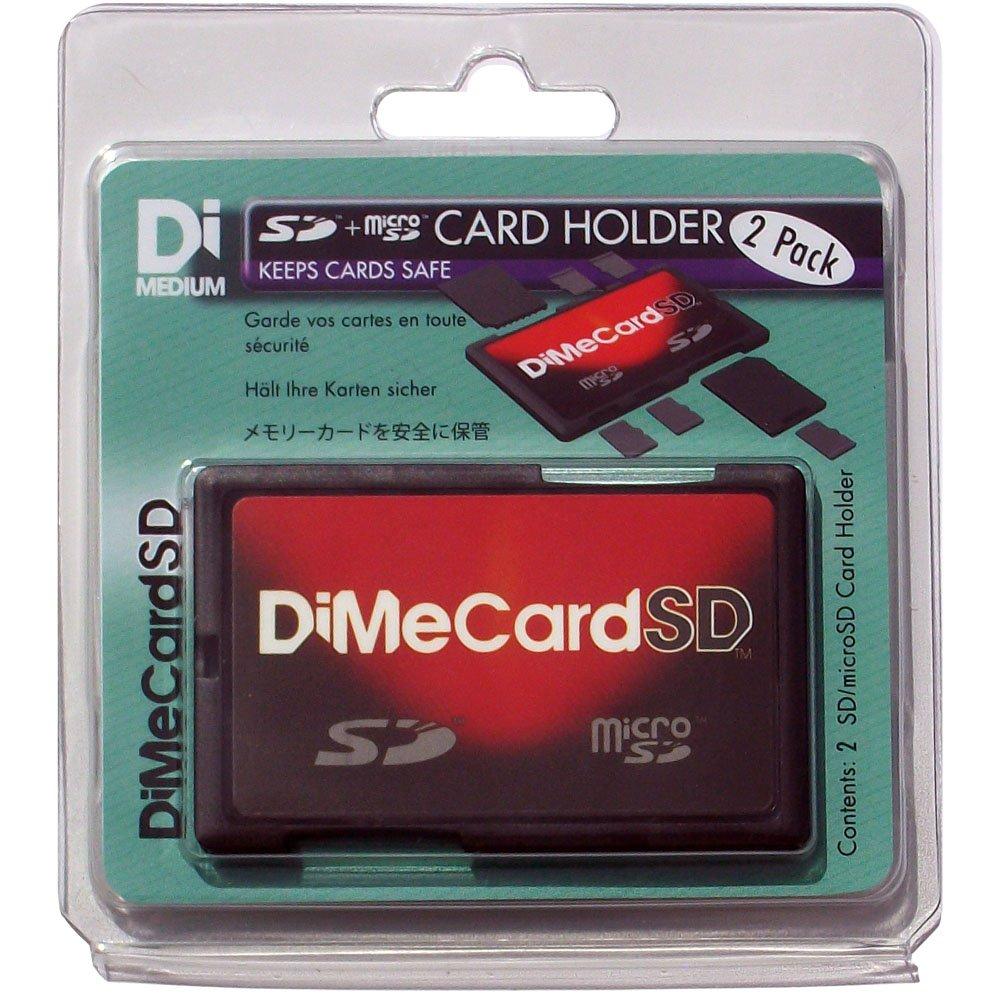283a0f8645 DiMeCard, scheda SD + porta schede Memory card e microSD, confezione con  due porta schede, dimensione carta di credito, con etichetta scrivibile:  Amazon.it: ...