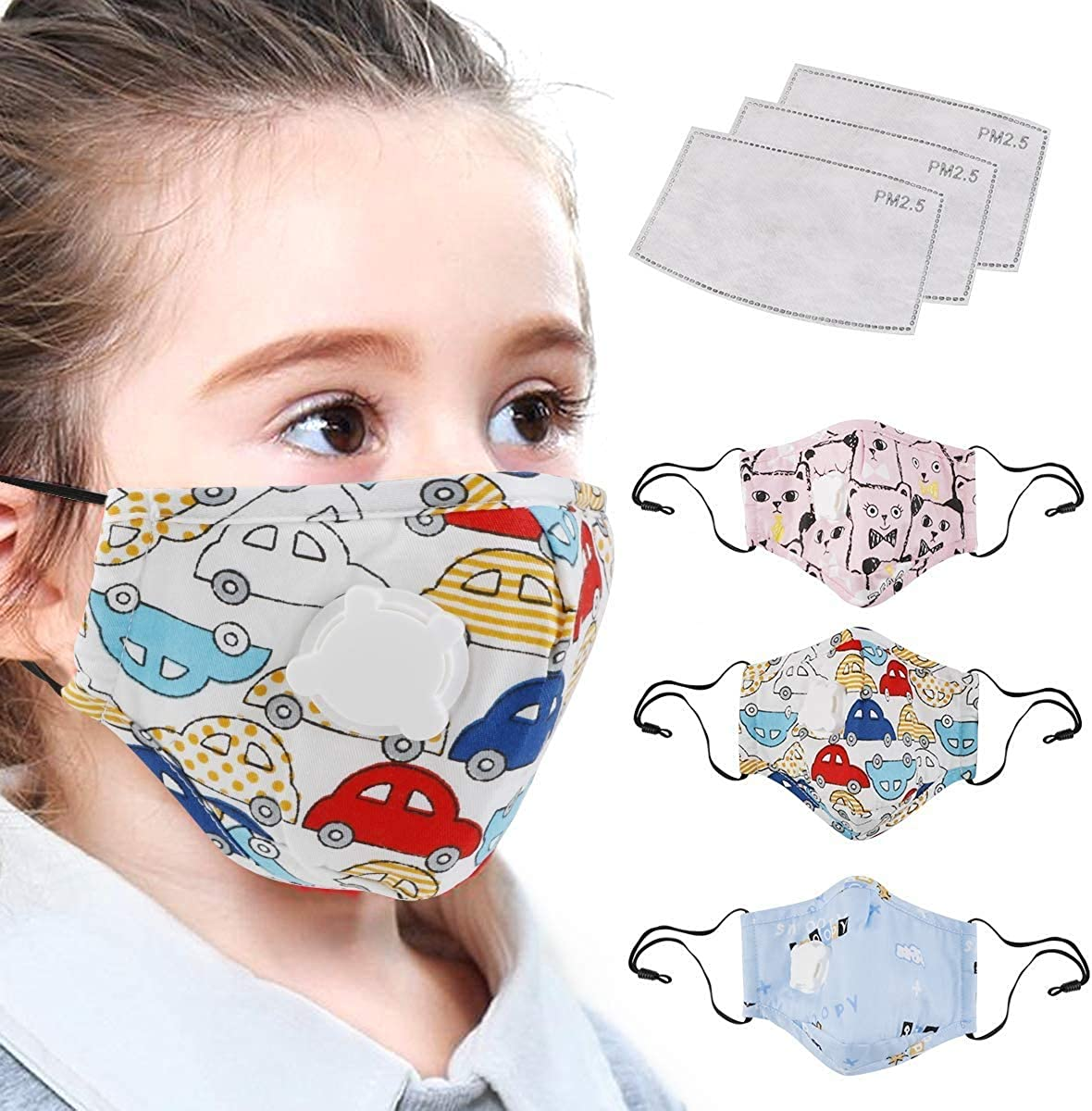 Bat-tle Ro-yale Kids Anti Dust Mouth Youth Reusable Earloop Face Covering 2 Filter Washable Breathable