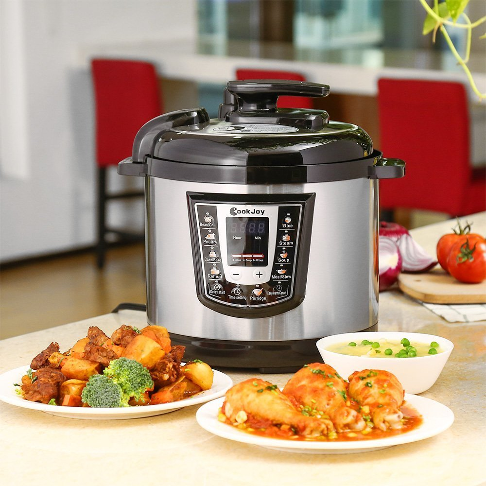 Multifunction Electric Pressure Cooker 6 Litre 8-in-1 Programmable Multi-Cooker with Stainless Steel Inner Pot by COOK JOY (Image #8)