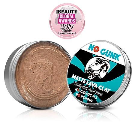 NO GUNK 100% Natürliche Matt Clay Haarwachs/Haarpaste - Starker Halt - Nur mit natürlichen und bio Inhaltsstoffen - Matte Lav