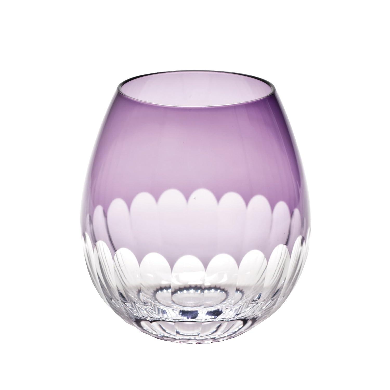 廣田硝子 グラス 江戸切子 花蕾 かまぼこ 紫 KARA-10 B009Z73SHQ
