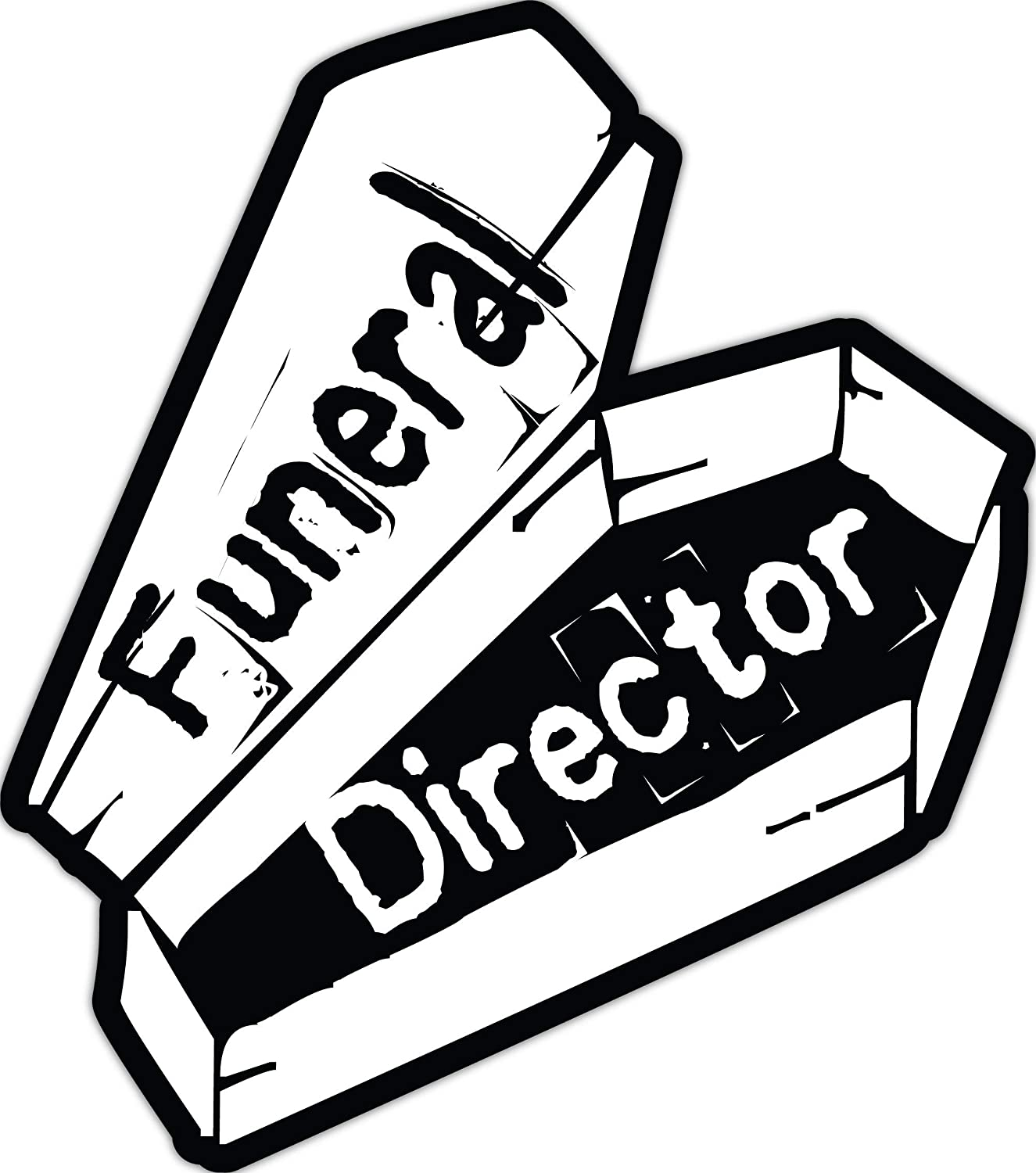 4 All Times Funeral Director Automotive Car Decal for Cars, Trucks, Laptops (15.9