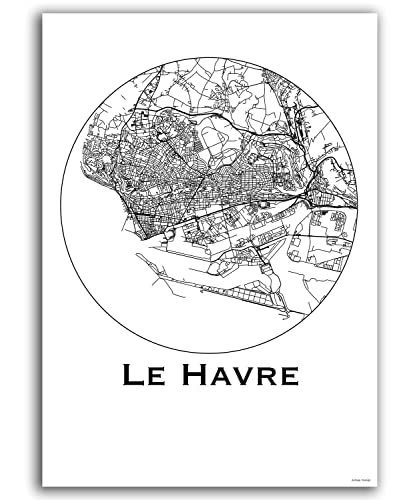 Poster Le Havre France Minimalist Map City Map Art Of Le Havre