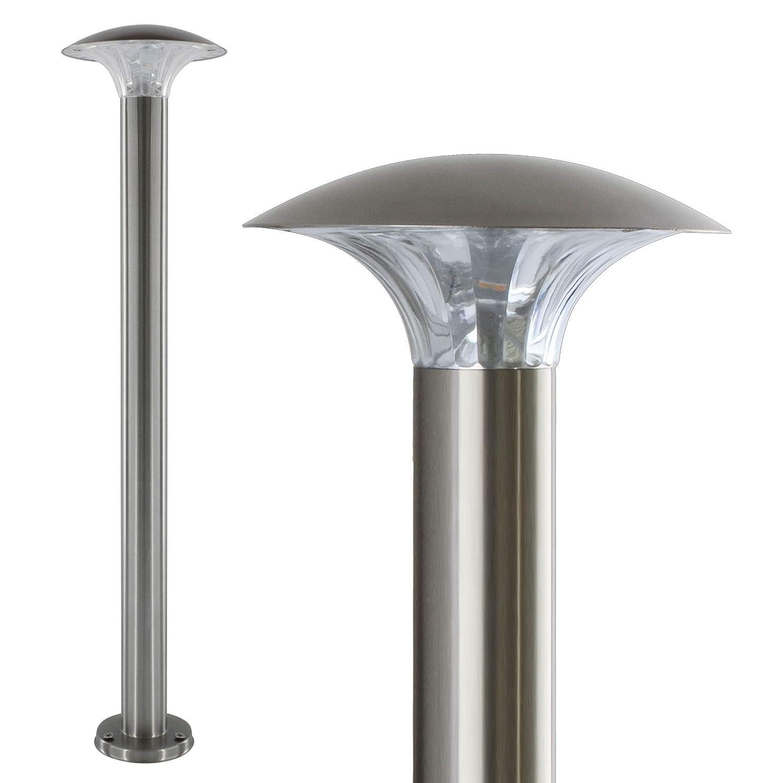 LED Aussenleuchte 5 Watt Wandleuchte Wandlampe Gartenleuchte Edelstahl 451 mit Bewegungsmelder [Energieklasse A] Maxkomfort