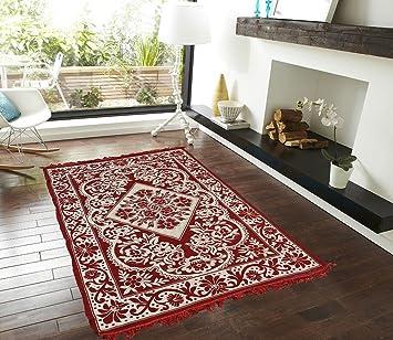 PRESTO BAZAAR Chenille Carpet   60 quot; x 84 quot;, Red Carpets   Rugs
