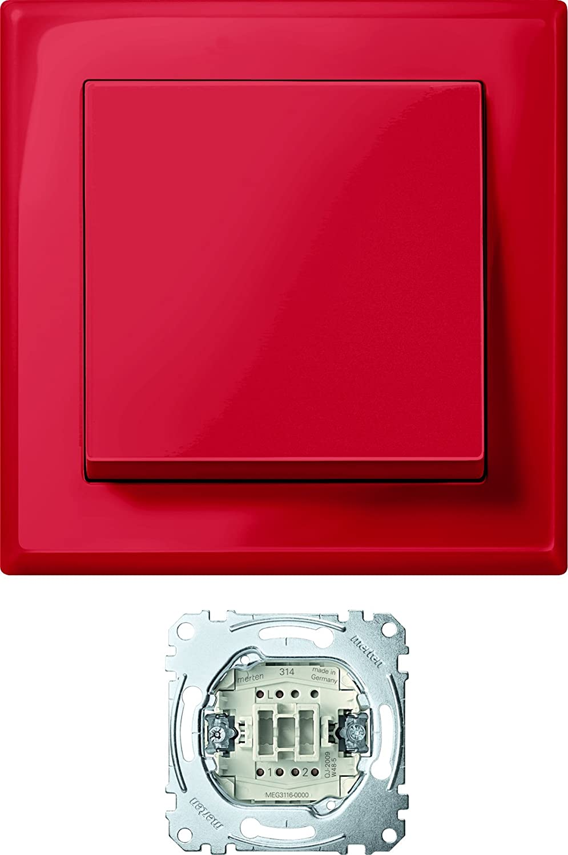 Merten MEG3341-1406 Jumbo, der große Schalter, rubinrot, M-SMART ...
