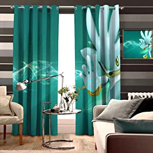 TXEWA Premier Thermal Insulated Curtain Cartoon Fictional Character Graphic Design Fit Farmhouse Window Width 183cm x HIGH 214cm