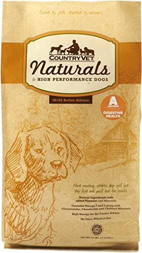 Country Vet Naturals Active 30 20 Protein To Fat Formula High Performance Sporting Dog Food 35 Pound