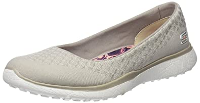 #Skechers Microburst One up Natural Womens Slipon Shoes BLKycG5R