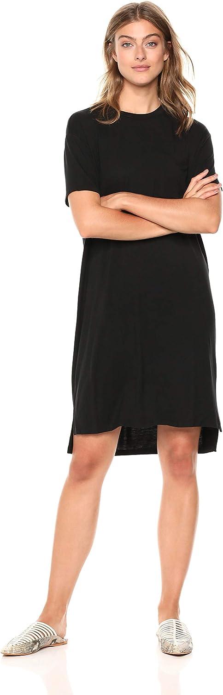 Daily Ritual Women's Jersey Short-Sleeve Boxy Pocket T-Shirt Dress