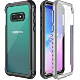 Temdan Samsung Galaxy s10e Case Full-Body Rugged Case with Built-in Screen Protector Support Wireless Charging, Heavy Duty Dropproof Case for Samsung Galaxy S10E 5.8 inch 2019 (Clear/Black)