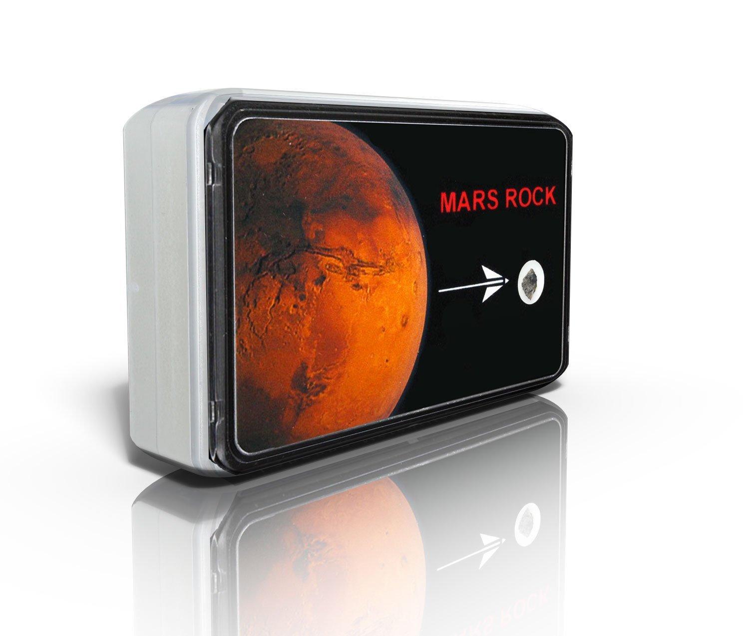 Météorites & Bijoux Want to touch Mars? Real fragment of the Red Planet (with certificate) - Pocket edition