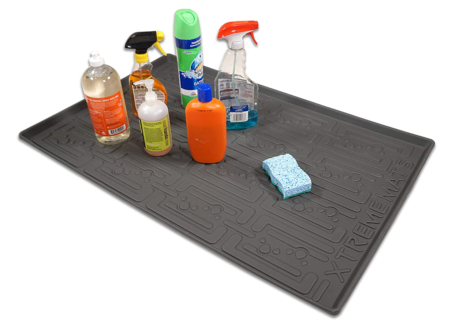 Xtreme Mats Under Sink Kitchen Cabinet Mat, 33 5/8 x 21 7/8, Grey