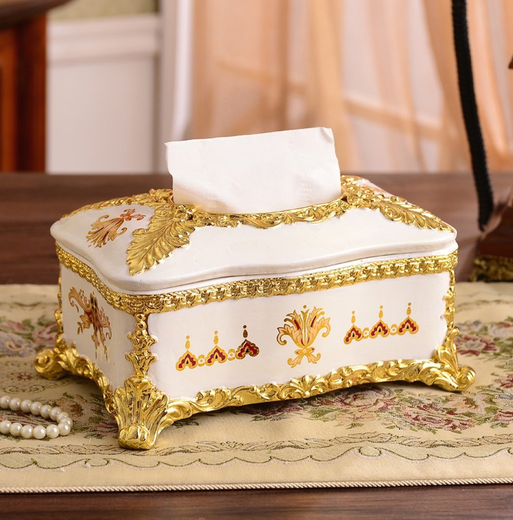 Hyun times New high-end luxury resin pumping tissue box napkin box pumping carton Continental retro Decoration