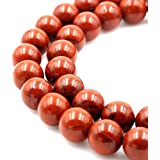 BRCbeads Natural Red Jasper Gemstone Round Loose Beads 6mm Approxi 15.5 inch 60pcs 1 Strand per Bag for Jewelry Making