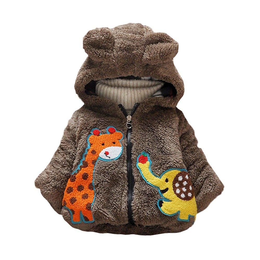 Cazadora gruesa de la cachemira de los niños del invierno, chaqueta con capucha capa de ropa gruesa caliente