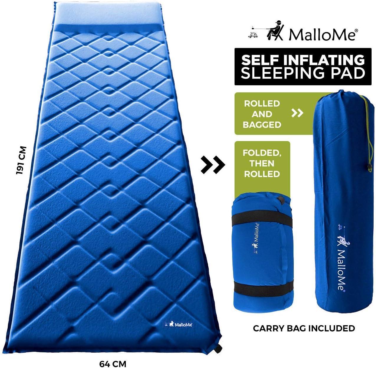 Amazon.com: MalloMe - Colchón de aire para camping - Colchón ...