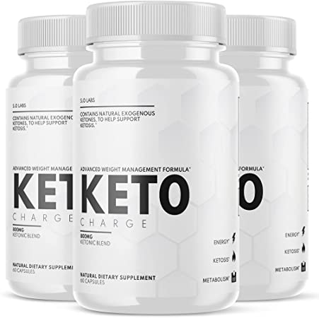 (3 Pack) Keto Charge Advanced Weight Management Formula Supplement Pills (180 Capsules)