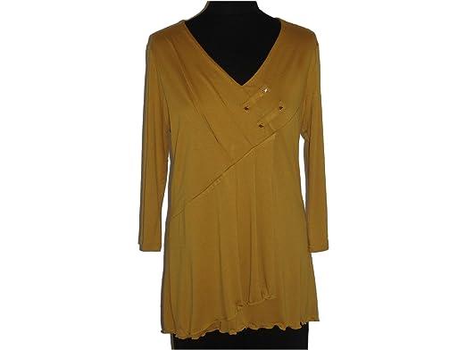 heiß-verkauf freiheit Neuestes Design mehrere farben Tunika senfgelb, gelb Gr. 46 (600011): Amazon.de: Bekleidung