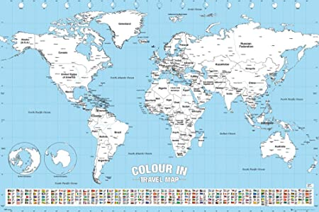 Gb eye world map colour in maxi poster multi colour 61 x 915 cm gb eye world map colour in maxi poster multi colour 61 x gumiabroncs Image collections
