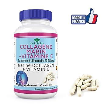 Nutrima Bio - Colágeno marino+Vitamina C- 90 cápsulas-Nutricite-600 MG: Amazon.es: Salud y cuidado personal