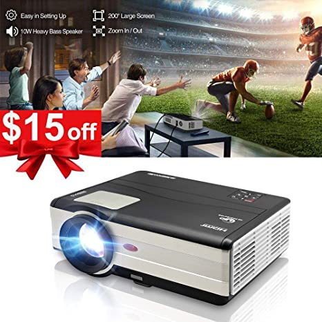 Amazon.com: HD Video Projector LED HDMI 3500 Lumens, 200 ...