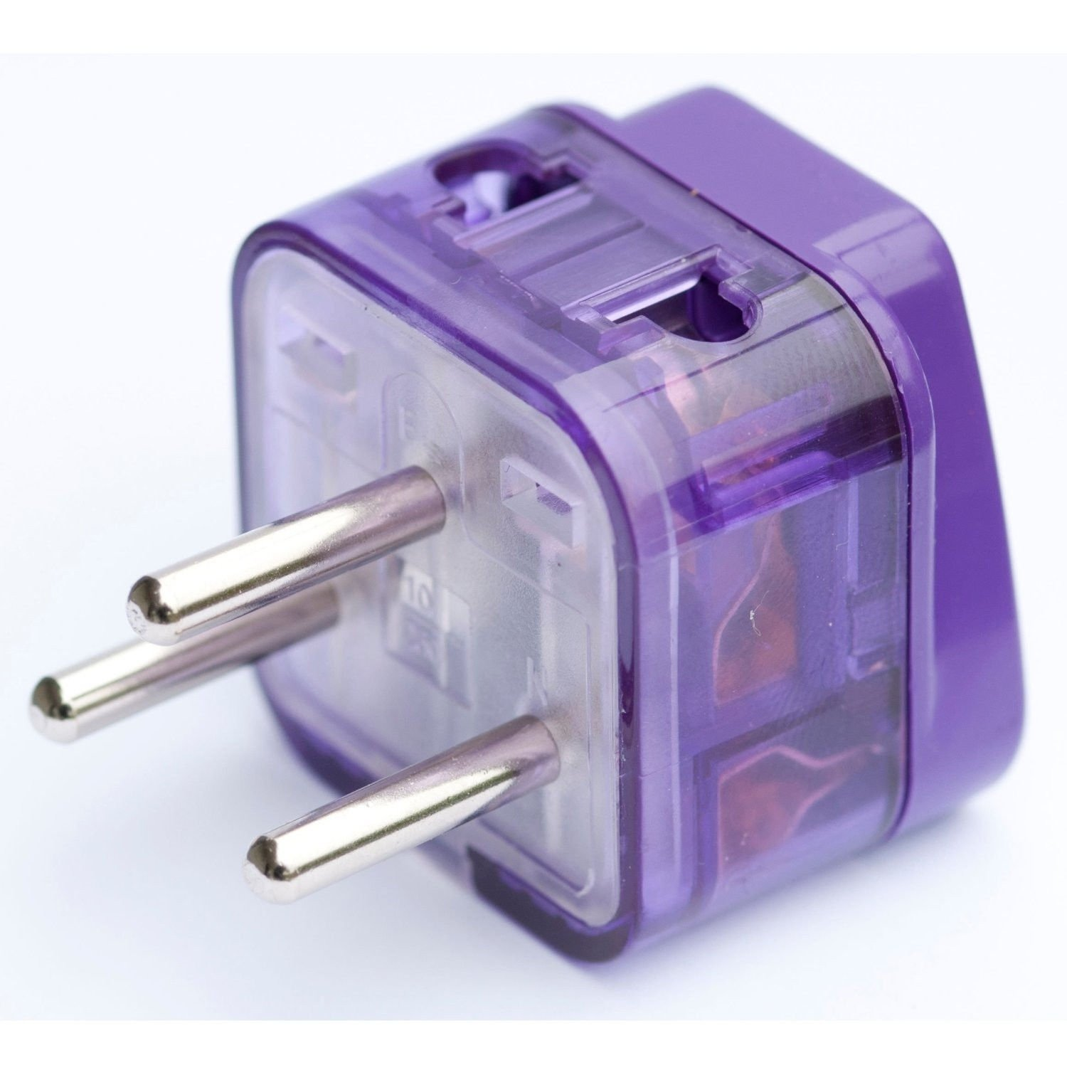 HIGH QUALITY AC POWER TRAVEL ADAPTER PLUG FOR ISRAEL / WITH DUAL PLUG-IN PORTS AND SURGE PROTECTION / GROUNDED