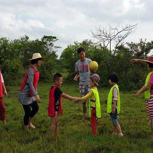 VGEBY 6pcs 12pcs Petos de Entrenamiento Petos de Fútbol para Niños   Amazon.es  Deportes y aire libre 6773c34c47d