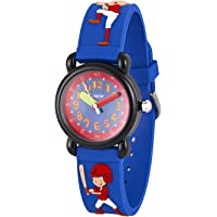 Wolfteeth Analog Boys School Day Christmas Wrist Watch with Second Hand Cool Small Face Round Dial Water Resistant Outdoor Sport Watch 3081