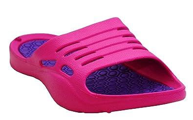 ba2c61c04b2ab Womens Ladies Lightweight Slip On EVA Peep Toe Girls Summer Beach Pool  Sliders Flip Flops Casual Mules Sandals Shoes UK Sizes 3-8  Amazon.co.uk   Shoes   ...