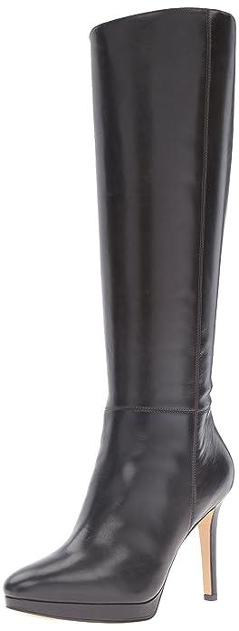 Amazon.com | Nine West Women's Okena Leather Knee-High Boot | Knee ...