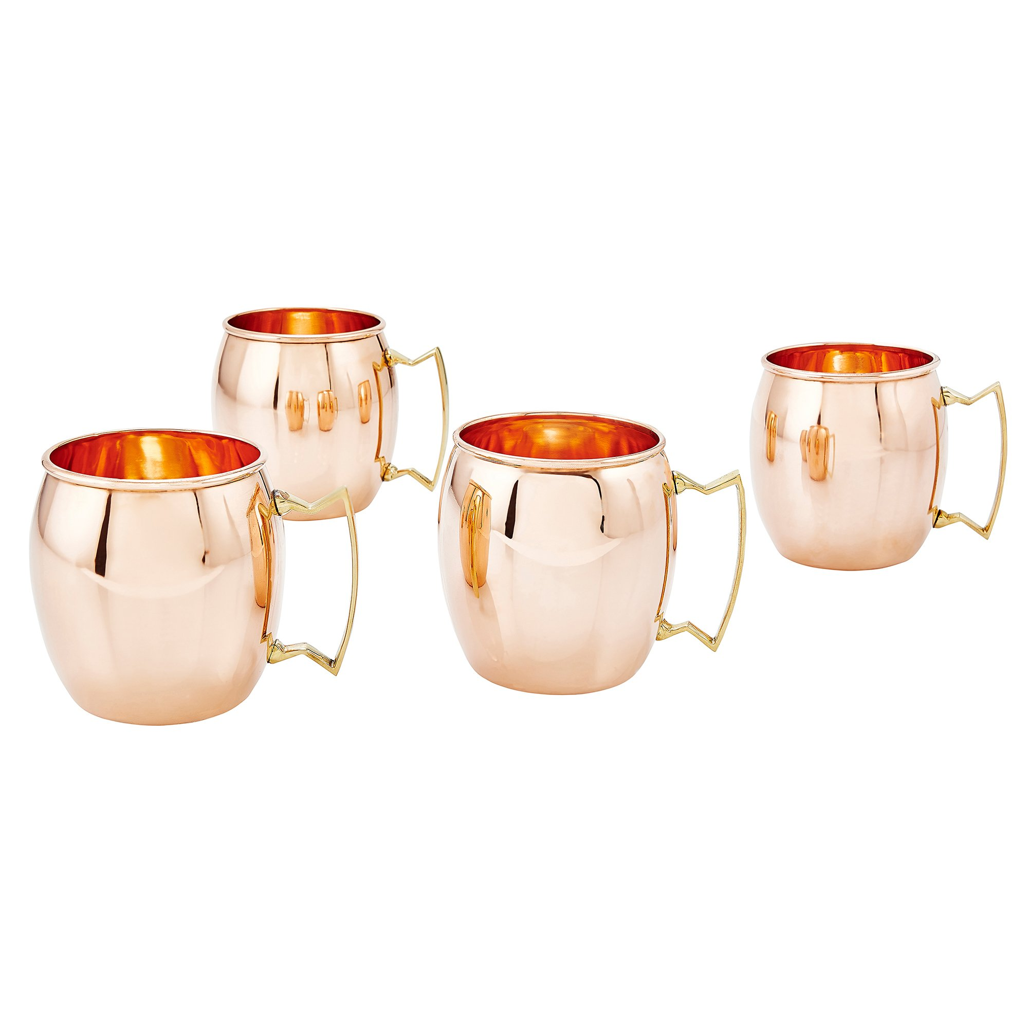 Old Dutch International, Purveyors of the ORIGINAL MOSCOW MULE MUG, 100% Pure Copper, Unlined Moscow Mule Mug, 16-Ounce, Set of 4