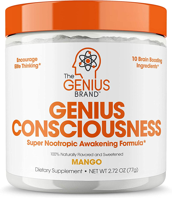 Genius Consciousness - Super Nootropic Brain Booster Supplement - Enhance Focus, Boost Concentration & Improve Memory | Mind Enhancement with Alpha GPC & Lions Mane Mushroom for Neuro Energy & IQ