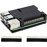 Carcasa de disipador térmico Raspberry Pi 4 con ventilador Dual, carcasa de aleación de aluminio Raspberry Pi 4B/carcasa…