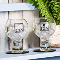Ladies' & Gentlemen's Glass Gin Balloons/Gin & Tonic Glasses (Equal Mix of Designs)