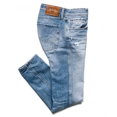 4a6f7812 Replay Anbass Dark Blue Stretch Slim Jeans: Amazon.co.uk: Clothing