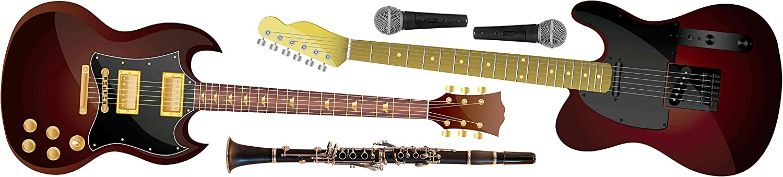 Atrezzos Photocall Cartón Nido de Abeja Instrumentos Musicales Guitarra Eventos o Celebraciones puntuales | Medidas 1,80 m x 0,40 m | Ideal para Fiestas y Celebraciones: Amazon.es: Hogar