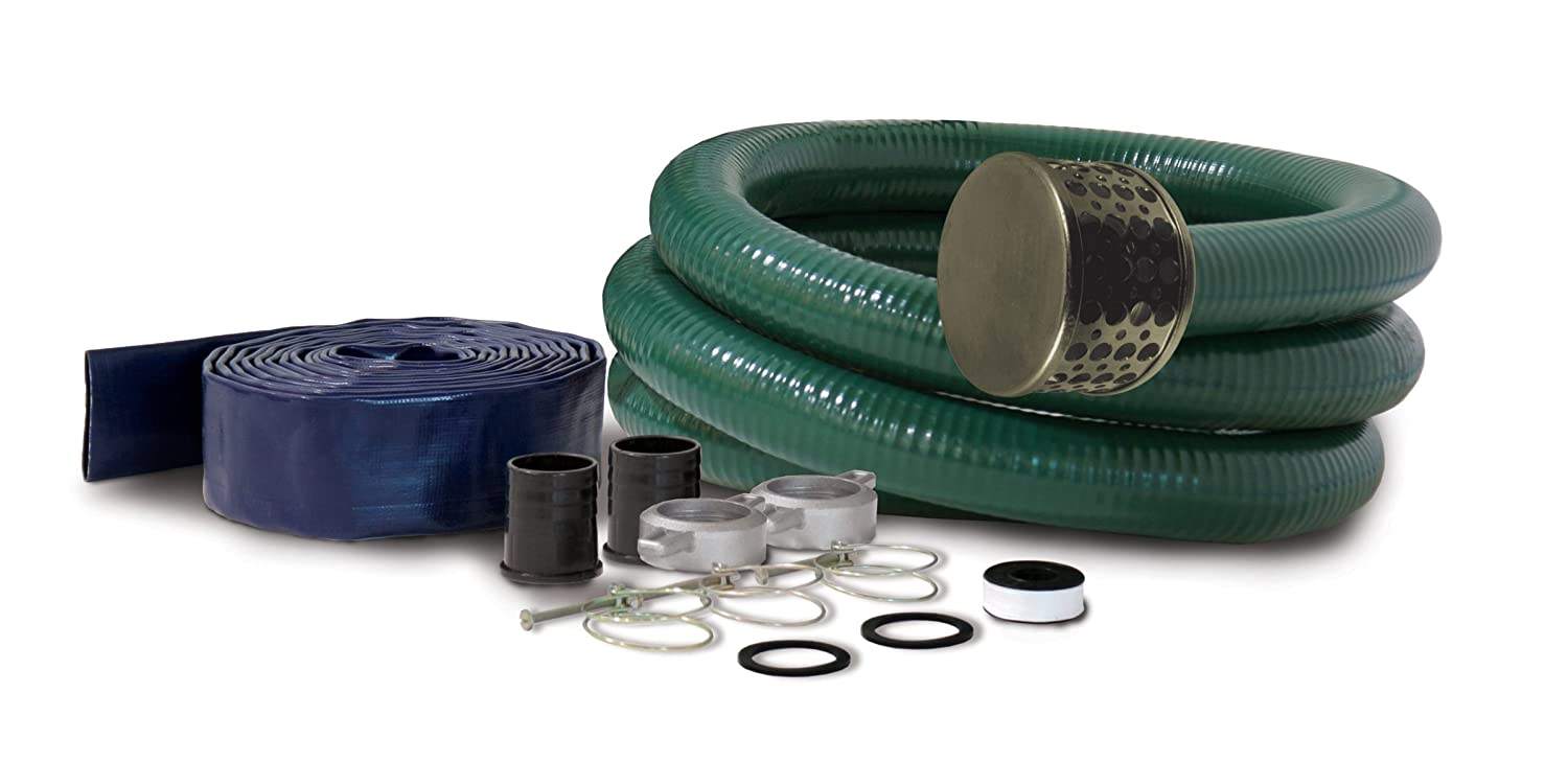 Champion Complete 3-Inch Water Transfer Pump PVC Hose Kit 100198