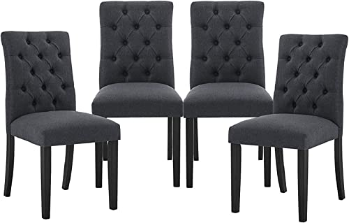 Modern Dining Chairs Set of 4 Kitchen Padded Chair