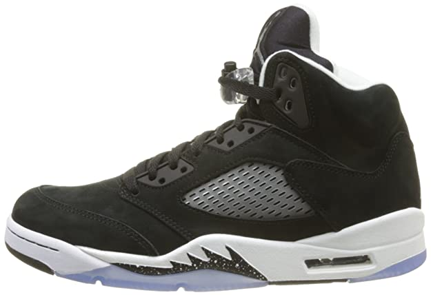 e5c118273ea NIKE Mens Air Jordan 5 Retro Oreo Suede Basketball-Shoes
