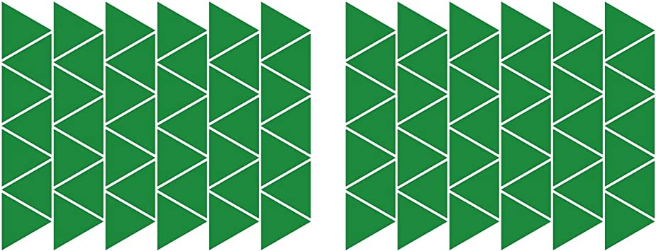 Pack of 80 LiteMark 2 inch Green Removable Dot Decal Stickers for Floors and Walls
