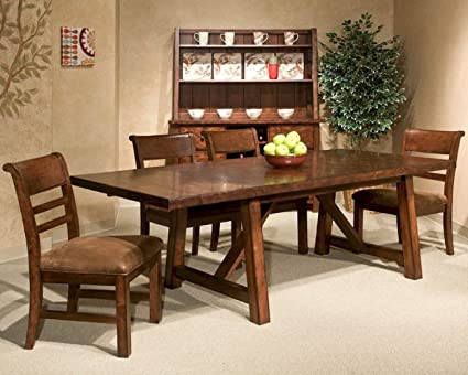 Miraculous Amazon Com Intercon Bench Creek 6 Pc Dining Set Includes Pabps2019 Chair Design Images Pabps2019Com