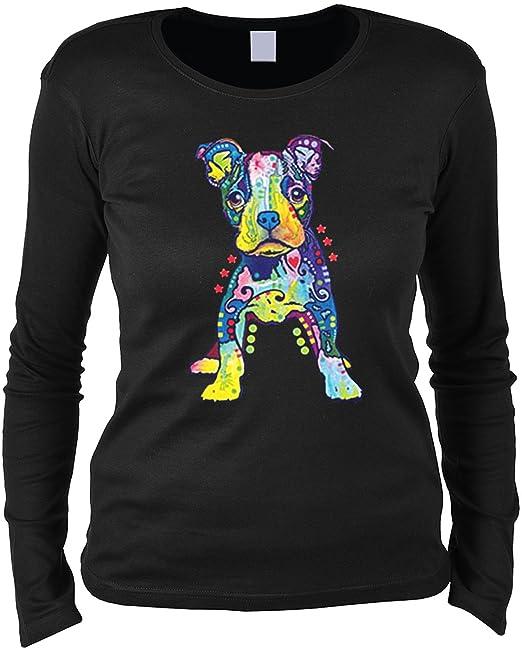 Damen Langarmshirt mit Motiv: Catillac New Katzenmotiv
