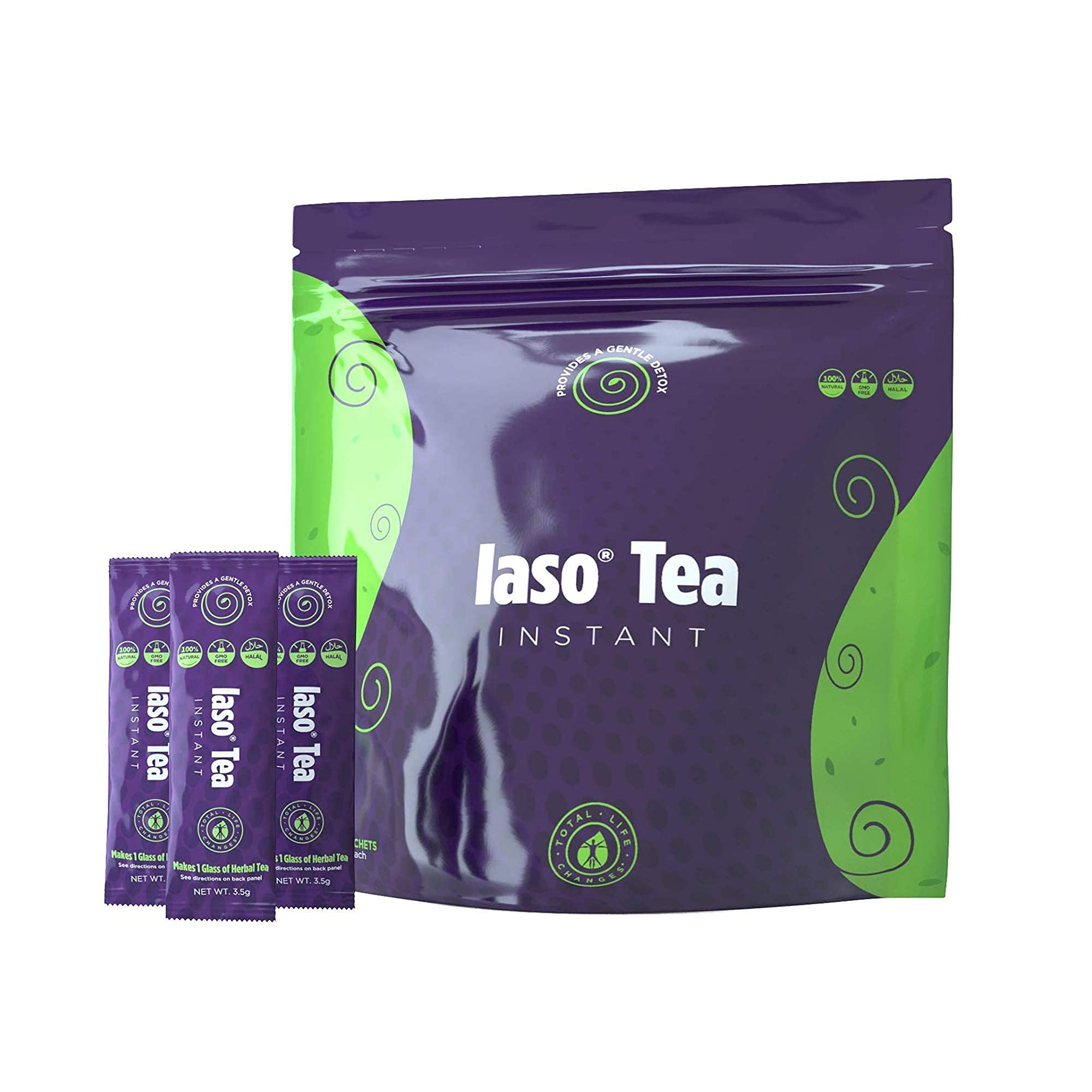 TLC Total Life Changes IASO Natural Detox Instant Herbal Tea - Expiration Date on The Pack Means Month/Year - 25 Count (Pack of 1)