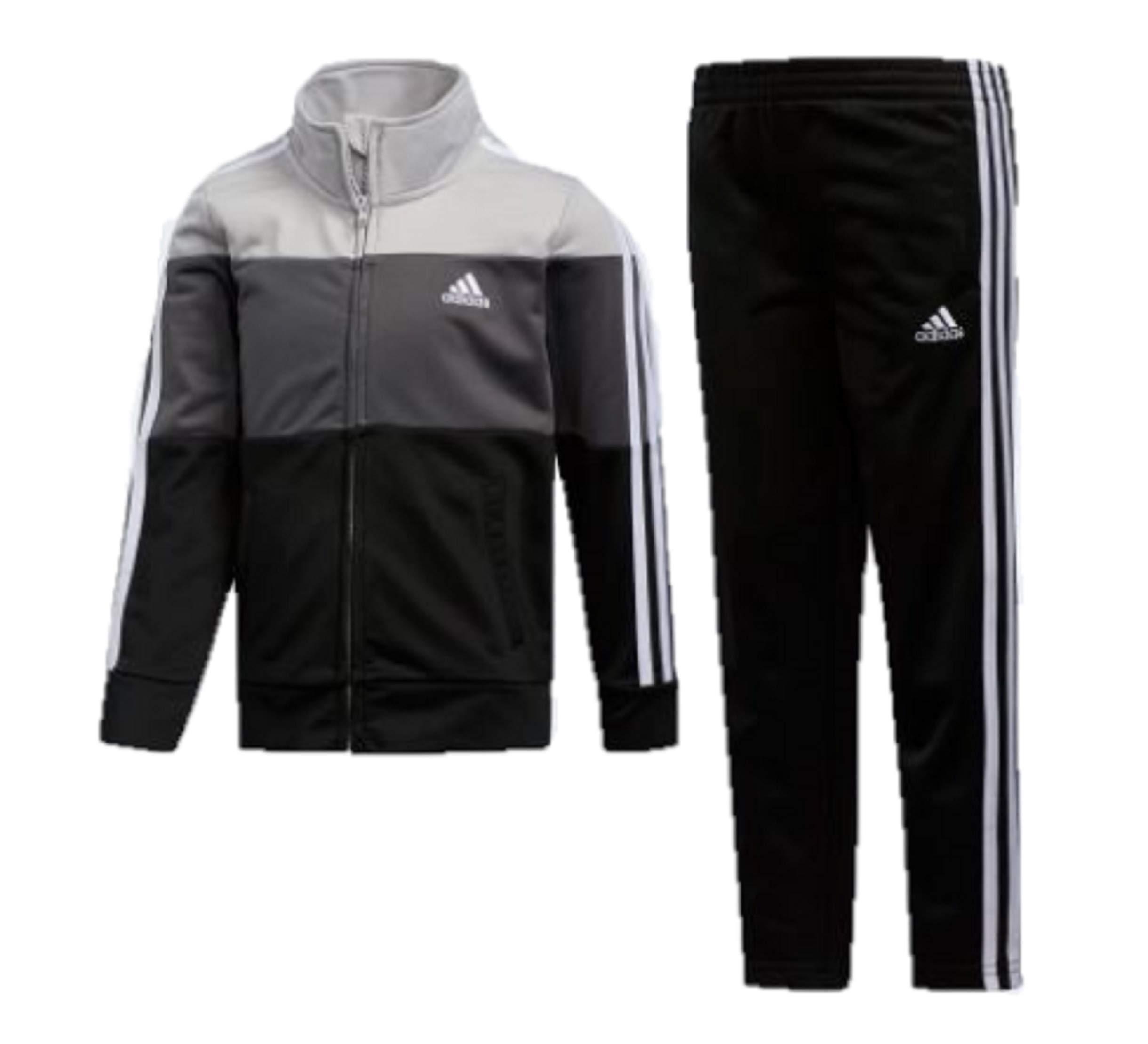 adidas Boys' Tricot Jacket & Pant Clothing Set (3T, Black 001)